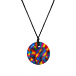 Button Pendant - Rainbow - Chewigem